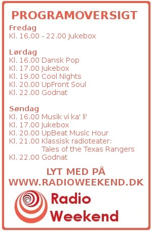 Programoversigt for Radio Weekend